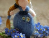 """""""Don't forget about me"""" necklace, in fairytale wool, Waldorf inspiration"""