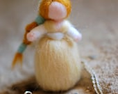 Birichina necklace, in wool fairy tale inspired Waldorf