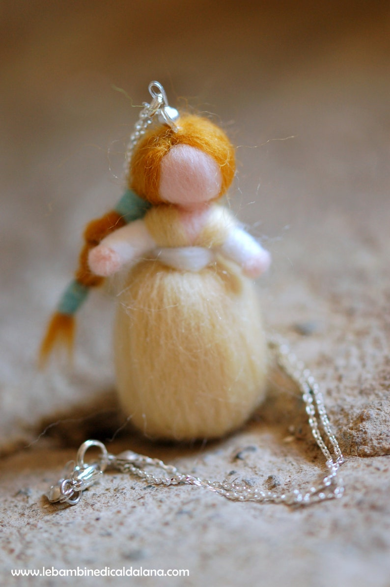 Birichina necklace in wool fairy tale inspired Waldorf image 0