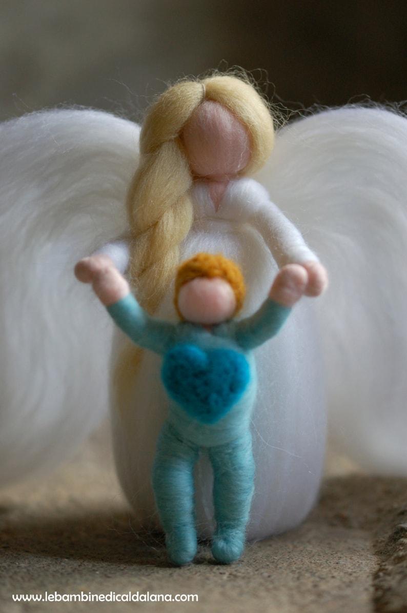 Guardian angel fairytale wool Waldorf inspiration home image 0