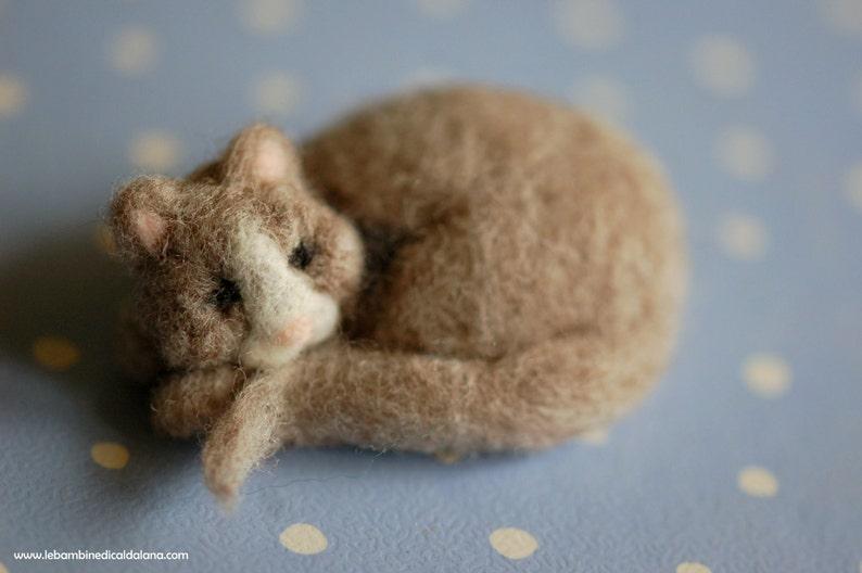 Kitty up wool fairytale inspired Waldorf image 0