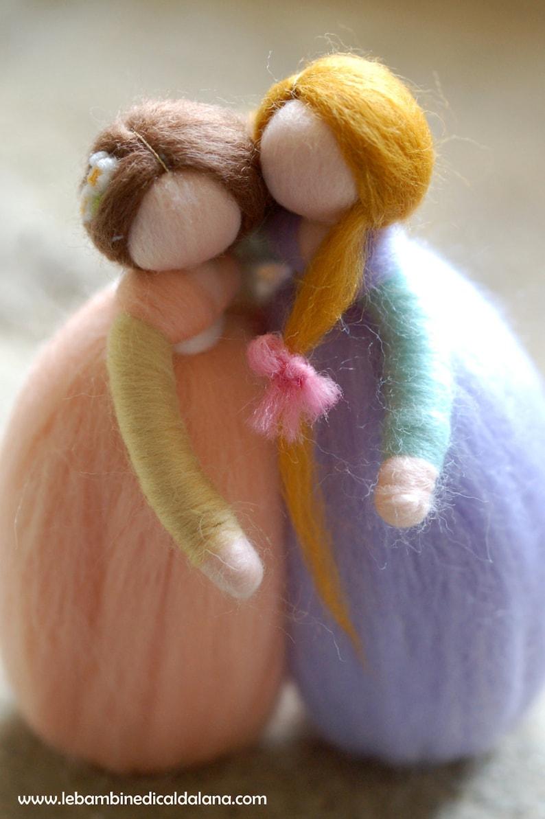 Girlfriends sisters wool fairy tale Waldorf inspiration image 0