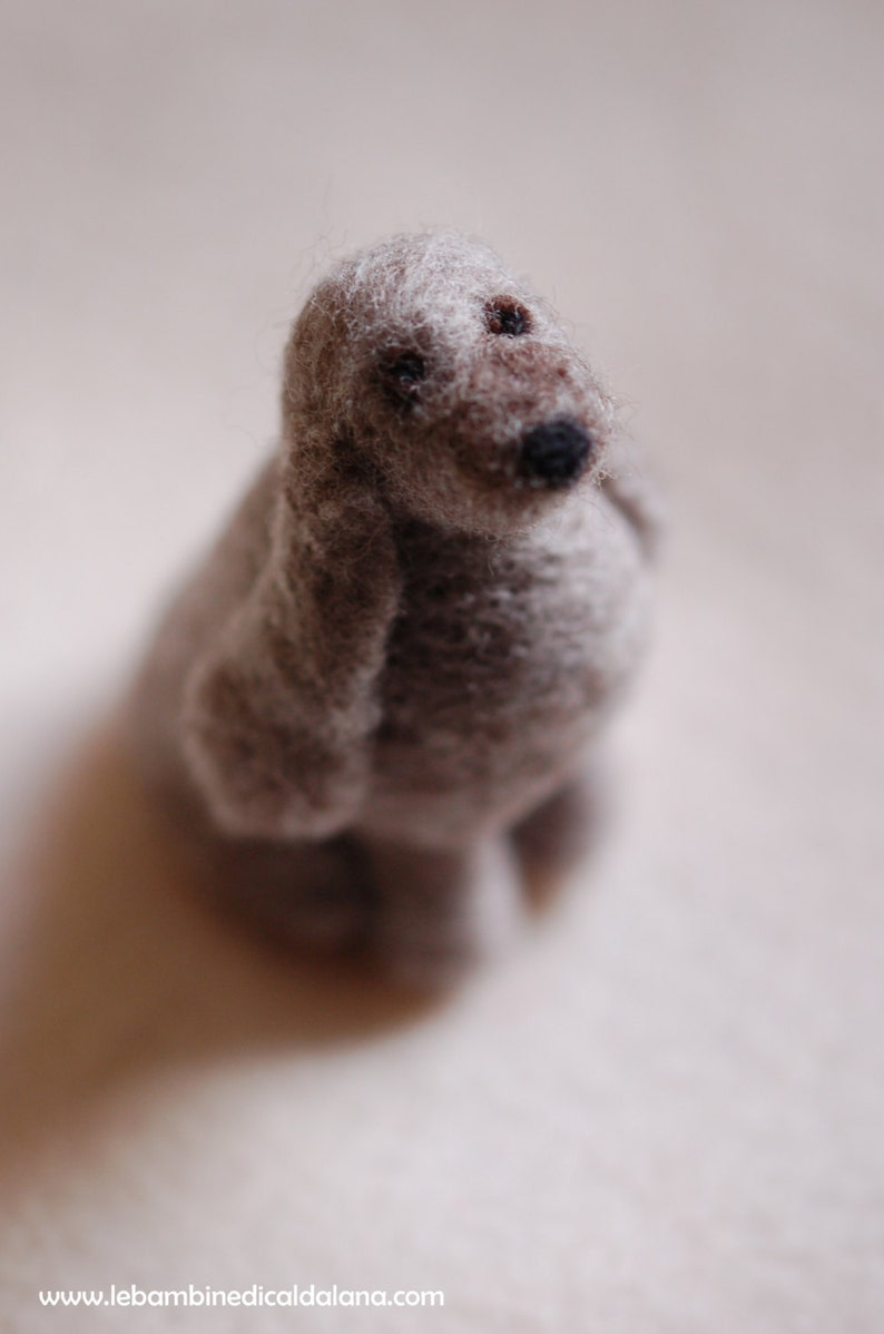 Little dog fairytale wool Waldorf inspiration image 0