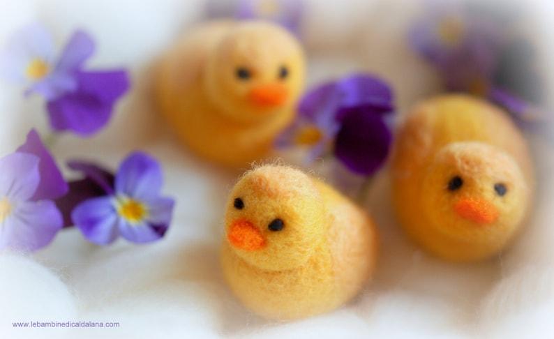 Chick wool fairy tale inspiration Waldorf image 0