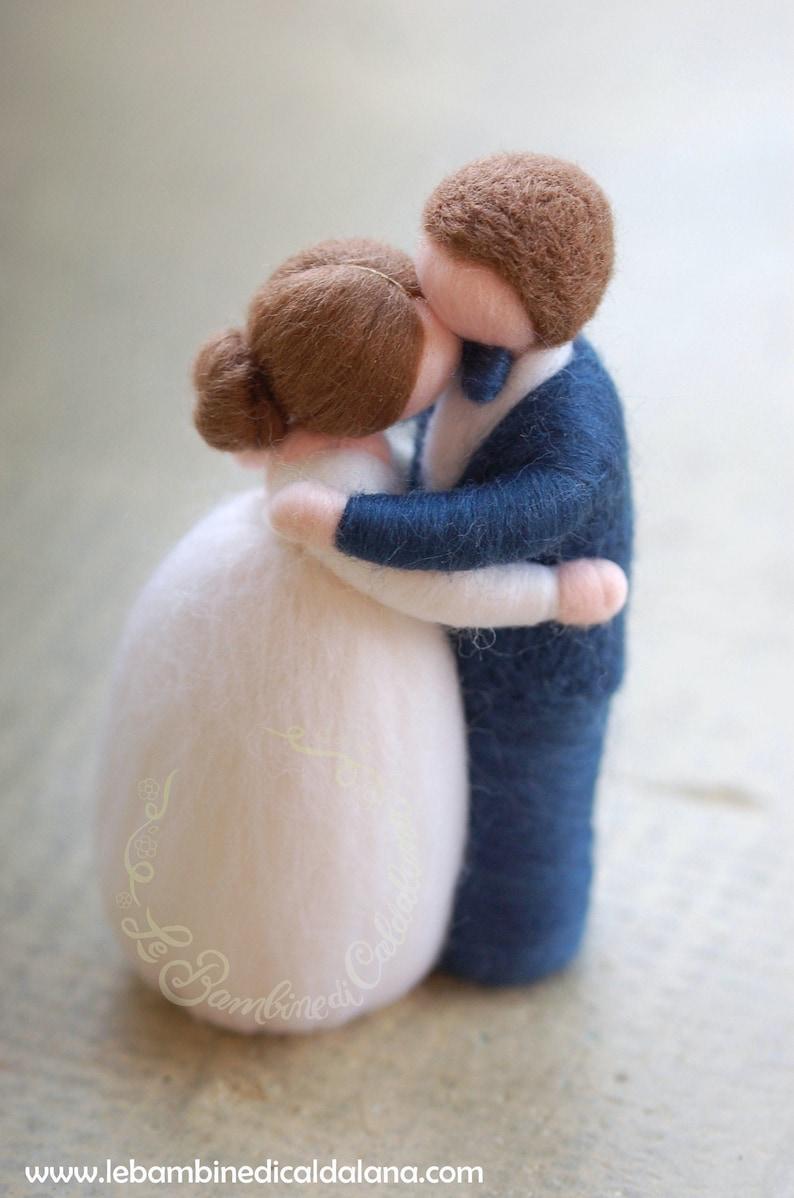 Newlyweds embraced wool fairy tale Waldorf-inspired wedding image 0