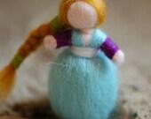 Birichina, single earring, wool fairy tale inspired Waldorf