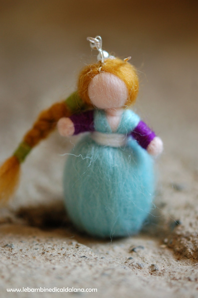 Birichina single earring wool fairy tale inspired Waldorf image 0