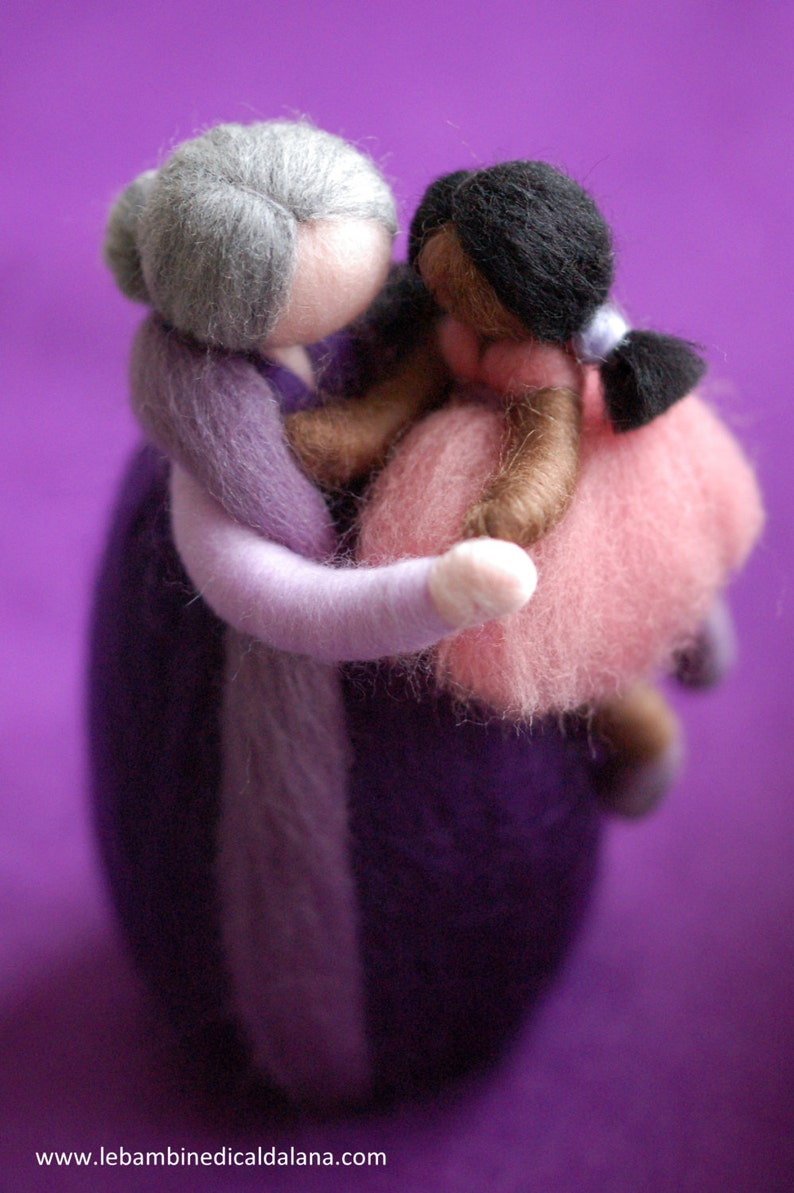 Grandmother with granddaughter fairy tale inspired wool image 0