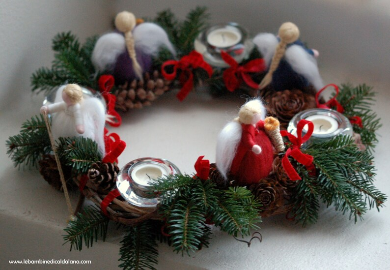 Advent Garland fairy tale wool Waldorf inspiration image 0