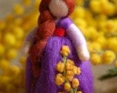 Mimosanemone, Wool fairy tale inspired by Waldorf,