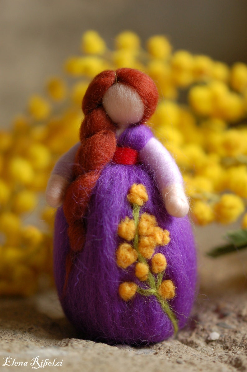 Mimosanemone Wool fairy tale inspired by Waldorf image 0