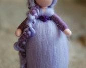 Clematis, Waldorf inspired tale, wool