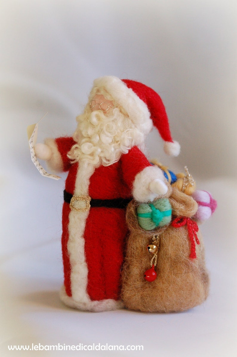 Santa Claus wool fairy tale inspired by Waldorf Christmas image 0