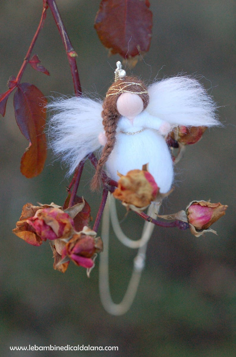 Angel necklace in fairytale wool Waldorf inspiration image 0
