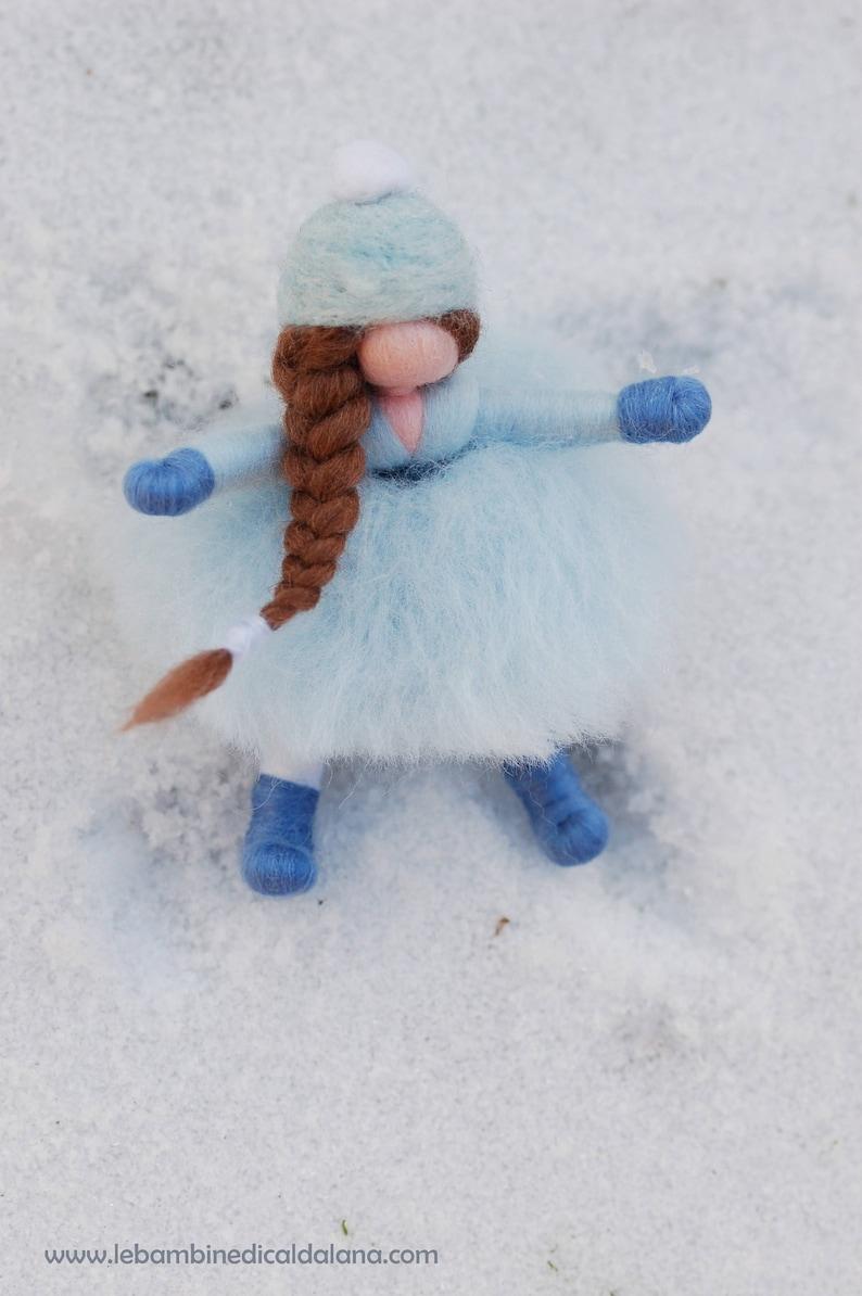 Snow girl fairytale wool Waldorf inspiration image 0