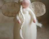 Snow angel, Wool fairy tale, Waldorf inspiration, home decor, collectible doll, soft sculpture