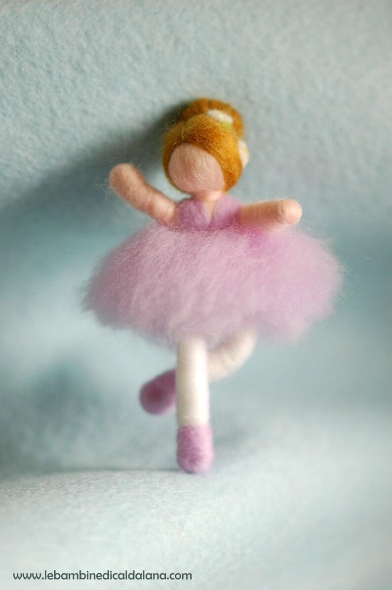Ballerina brooch wool fairy tale Waldorf inspiration image 0