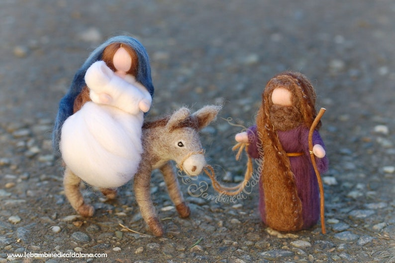 Escape to Egypt Nativity with Donkey nativity wool fairytale image 0