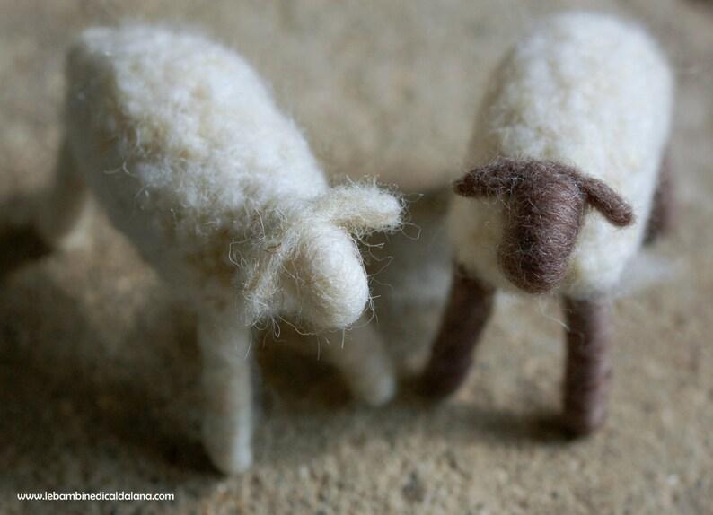 Sheep nativity wool fairytale inspired Waldorf Christmas image 0