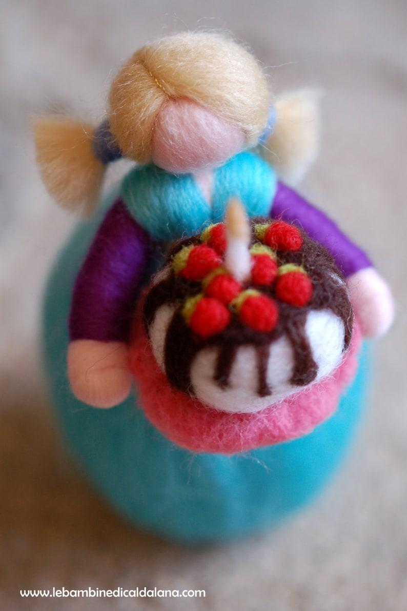 Happy Birthday wool fairytale inspired Waldorf image 0