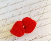 Kiss of hearts, necklace, fairytale wool, Waldorf inspiration