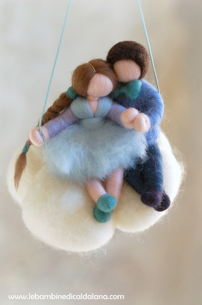 Swing in the clouds Valentine's Day Wool fairy tale image 0