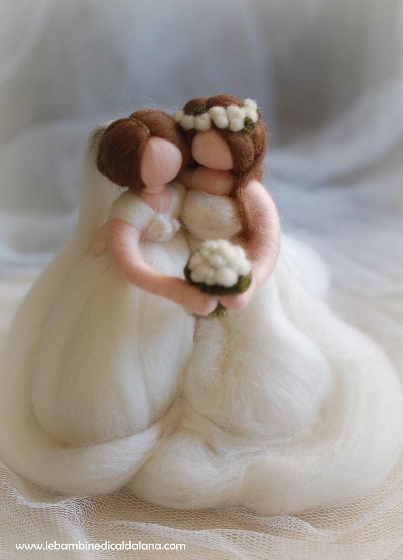 Rainbow Brides fairy tale wool Waldorf inspiration wedding image 0