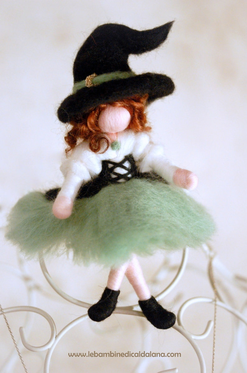 Witch Smeralda Wool fairy tale inspiration Waldorf image 0