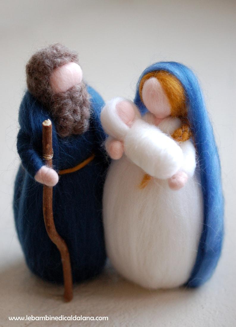 Nativity fairy tale wool fairytale inspired Waldorf image 0