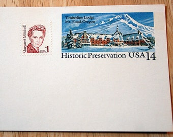 Mint USPS Stamped Postcards--Scott #UX119--Historic Preservation--14c--Margaret Mitchell--Scott #2168--1c--1986--Shipping Included