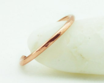 Thin Rose Gold Ring Band, Adjustable Stacking Rings, Stackable 14k Rose Gold Filled Rings, Free US Shipping