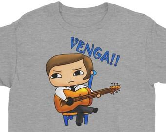 Kids Flamenco Tshirt, Flamenco Graphic T-shirt, Spanish Guitar Tshirt, Boy's Guitar T-shirt, Childrens Flamenco Tshirt, Flamenco Guitar Tee