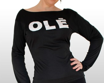 f71f73b638c1f WOMENS FLAMENCO T-SHIRT - Choose your logo! Long Sleeve dance t-shirt