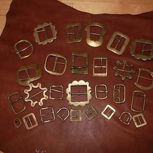 2 Brass Buckles Dollmaking Supplies Sewing Supplies RB-172