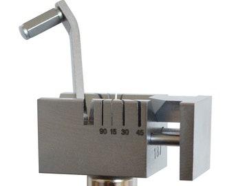 Multi-Angle Tube Metal Stock Cut Chenier Cutter Sawing Jig Jewelry Making Tool - 23-1294