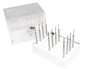 5 Pack Diamond Coated Drills Size #65 Medium//Fine Grit Jewelry Making Stone Glass Pearl Ceramics .89 MM Drill Tools Set