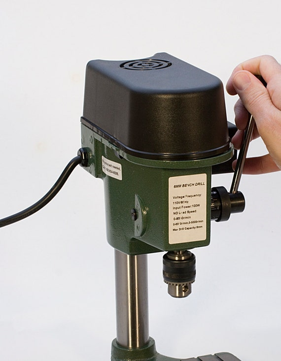 6 5 MM Mini Benchtop Drill Press Compact Drill Jewelry Making Hobby Bench  Tool 3-Speed Max 8,500 RPM - DRL-300 00