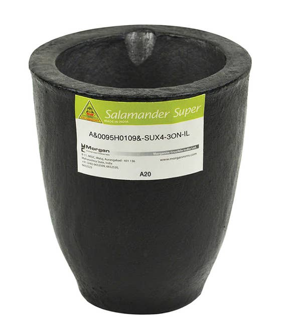 Torch Melting #3 4kg Clay Graphite Crucible Cup For Furnace