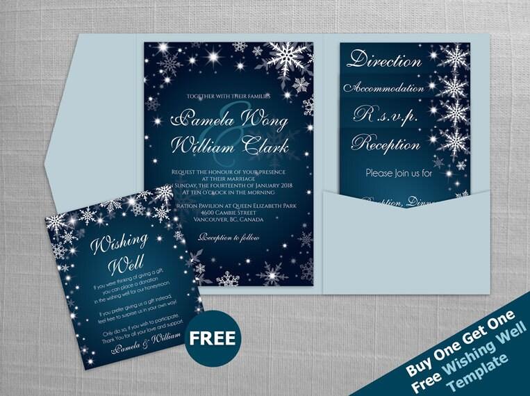 Diy Wedding Invitations Canada: DIY Printable Wedding Pocket Fold Invitation Set A7 5 X 7