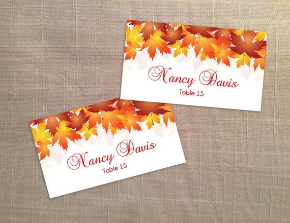 microsoft office place card template