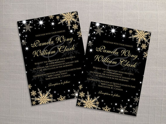 DIY Printable Wedding Invitation Card Template