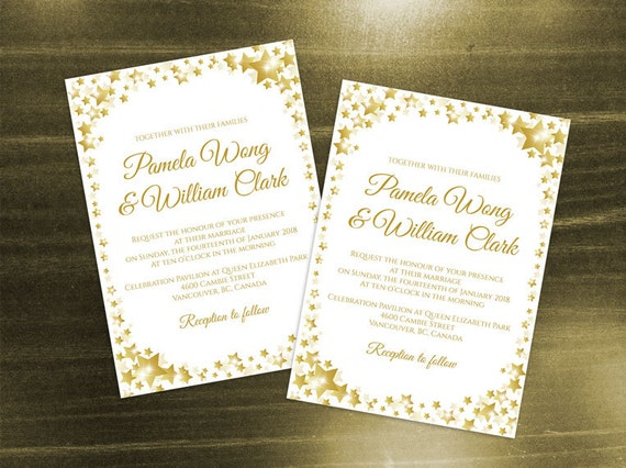 Diy Wedding Invitations Canada: DIY Printable Wedding Invitation Card Template Twinkle