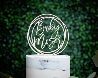 Personalized Baby Shower Cake Topper, Baby Name Cake Topper, Wood Name Cake Topper, Custom Baby Name Topper, Baby Shower Decorations