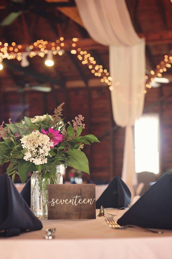 Wood Wedding Table Numbers Wedding Decorations Wedding Etsy