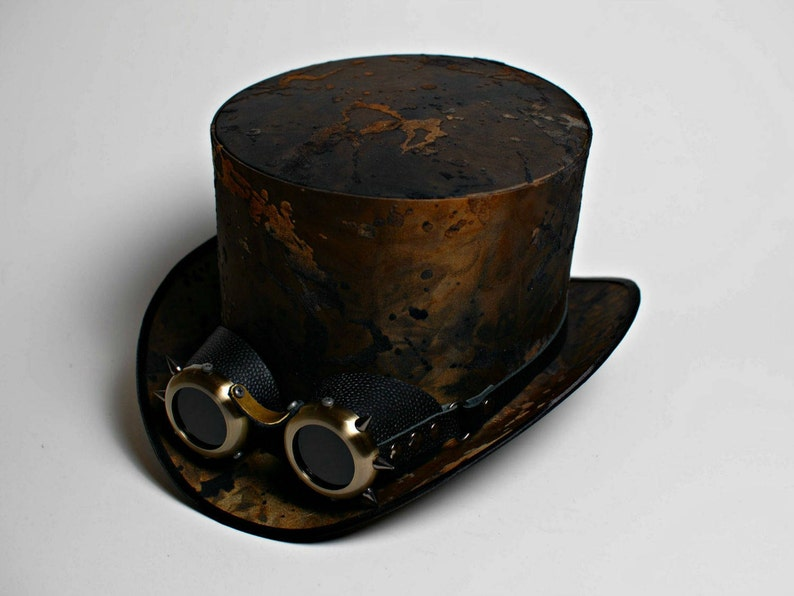 feb1a0a8376 Modern Set of Steampunk Men Top Hat with Goggles Wedding Victorian Mens Hats  Wom... Modern Set of Steampunk Men Top Hat with Goggles Wedding Victorian  Mens ...