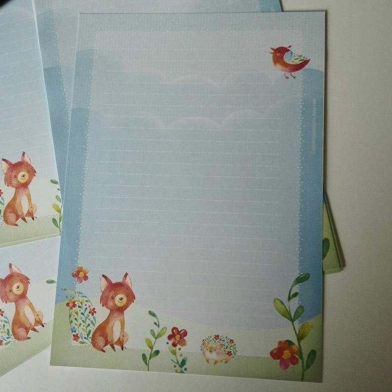 A5-20 printed sheets Joyful fox