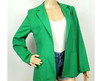 Fitted 1990s Size 810 Work Blazer 1980s Vintage Big Collar Grey Black Fitted Blazer with Burn Out Floral Design Jacket
