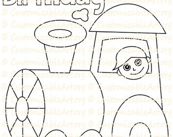 Train coloring pages | Etsy