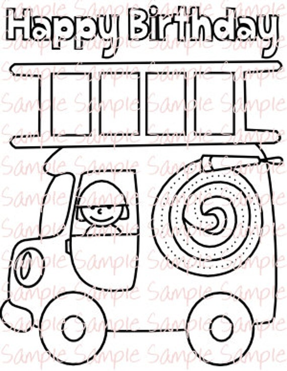 Fire Truck Party Printables Fireman Firefighter