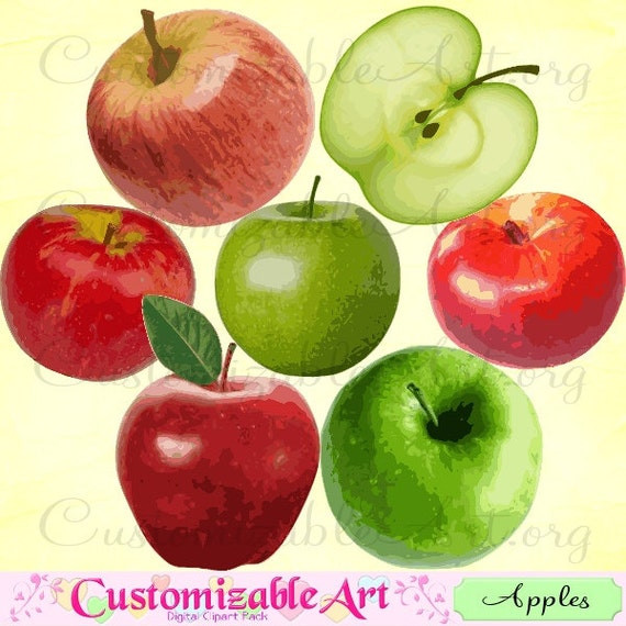 Green And Red Apples Clipart